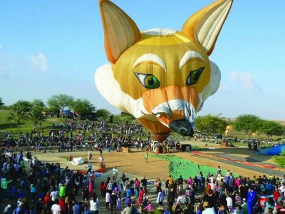 """בחוה""""מ סוכות: פסטיבל כדורים פורחים בינלאומי בגלבוע"""