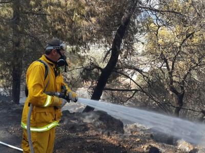 הכביש לדבוריה נחסם בעקבות שרפה משתוללת