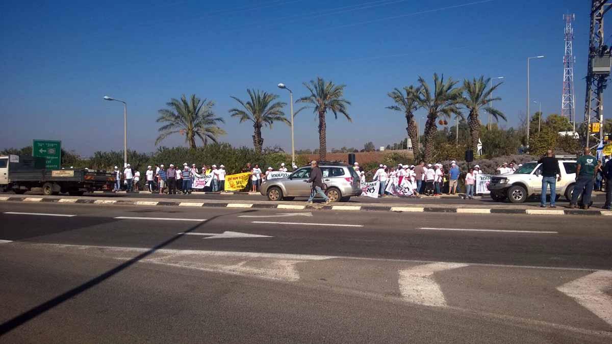הפגנת מאות מהגלבוע נגד הקמת פרוטרום