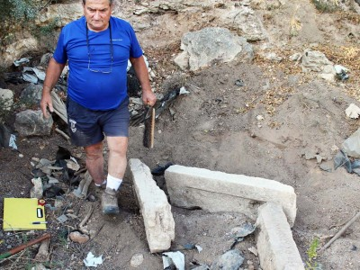 ציפורי: נחשפו כתובות קבורה מלפני כ-1700 שנה