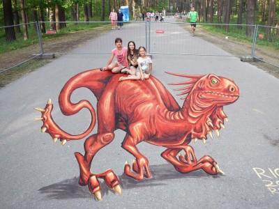 עפולה: בקרוב פסטיבל בינלאומי לציורי מדרכות בתלת מימד