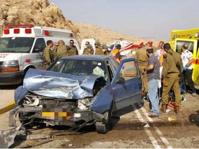 כביש 90: בת שנה נפצעה באורח בינוני בתאונה קשה