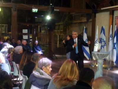 """לפיד בעפולה: """"הבעיה של מדינת ישראל היא המערכת הפוליטית"""""""