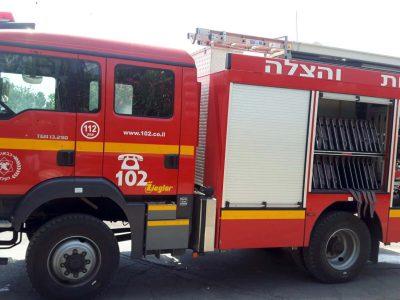 עפולה: שריפה בבית במבנה בין שתי קומות