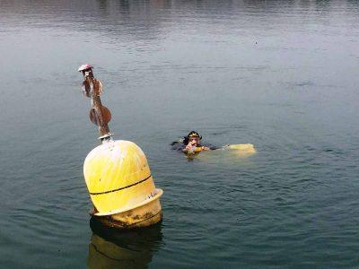 בעקבות החורף השחון: באגם הלאומי הזיזו את מצופי סימון ה- 300 מ'