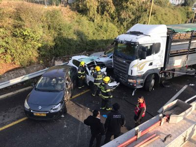 תאונת שרשרת בטבריה