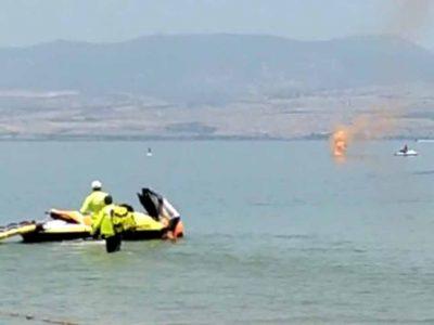 דרמה בכנרת: רוכבי אופנועי ים שנקלעו למצוקה חולצו לחוף