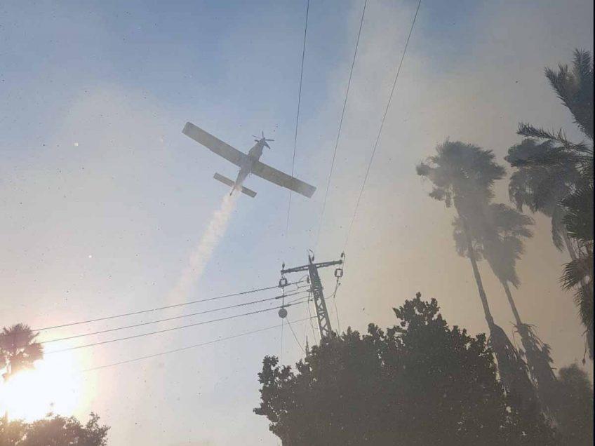 שריפה ביער צ'רצ'יל: הוזעקו חמישה צוותים של לוחמי אש ושלושה מטוסי כיבוי