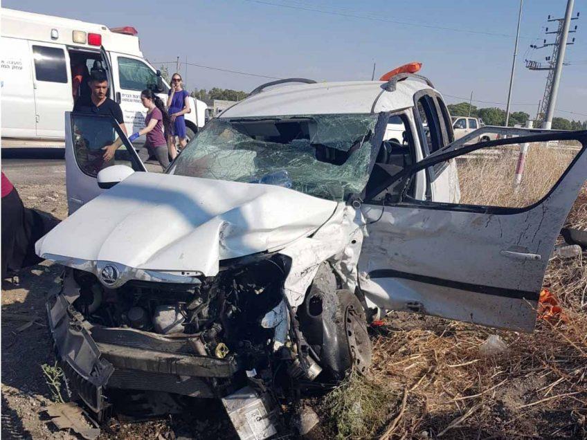 עמק המעיינות: פצועה אנוש בתאונת דרכים סמוך לשדה אליהו