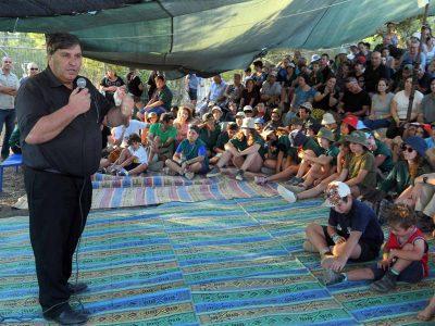 """יו""""ר קק""""ל ביקר במחנה תנועת 'נוע""""ם' ביער חנתון שבעמק יזרעאל"""