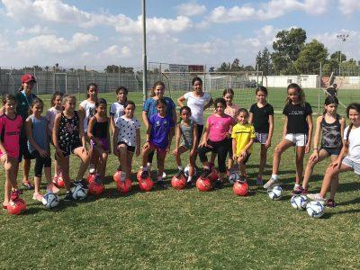 שחקי אותה כמו בקהאם: החלה פעילות כדורגל נשים בגלבוע