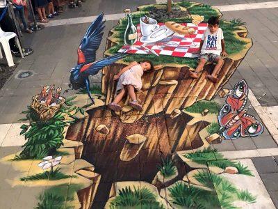 כ- 50 אלף מבקרים ביקרו בפסטיבל עפולה לציורי מדרכות ב-D3