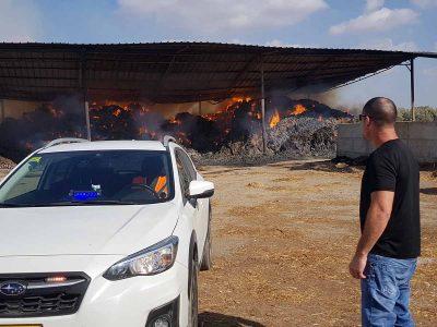 הערכה: נזק של מיליון שקלים למתבן שעלה באש בניר יפה