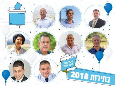 בחירות 2018 בעמק – עדכונים שוטפים