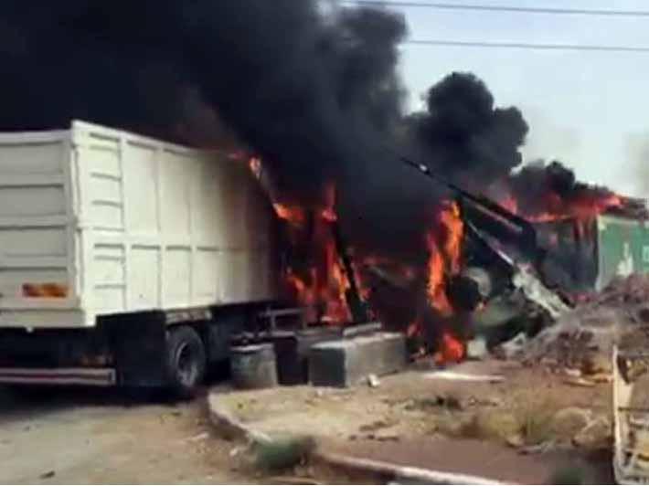 """שריפה במפעל באזה""""ת בבית שאן: במקום נפגעים קשה מכוויות"""