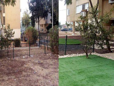 """מגדל העמק: הסתיים שיפוץ המתחם הראשון במסגרת פרויקט """"אצלנו בחצר"""""""