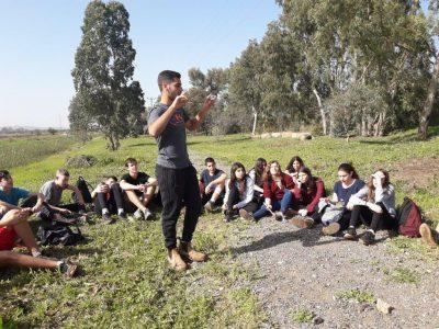תלמידים מהרב תחומי עמק חרוד יצאו לפעילויות חווייתיות בנחל חרוד המשוקם