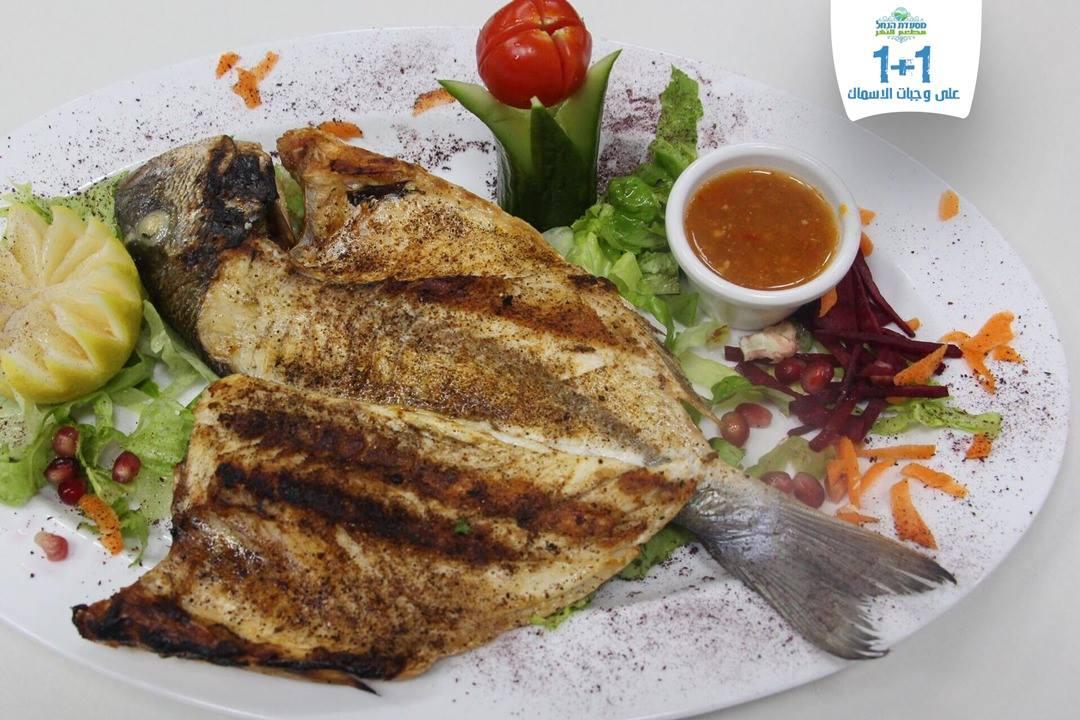 מנת דגים מרעננת שמגישה המסעדה
