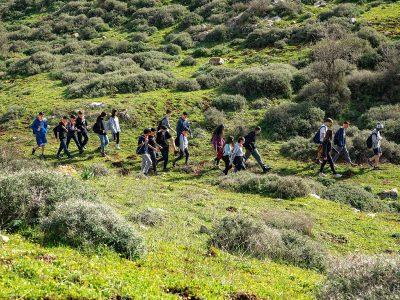 """תלמידי העמק המערבי כבשו את שביל יזרעאל קק""""ל"""