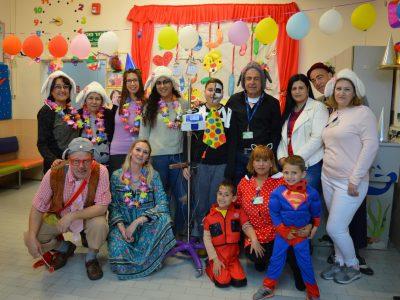 קרנבל: חגיגת פורים המסורתית נערכה ביחידה האונקולוגית לילדים במרכז הרפואי העמק