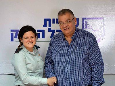 כבוד: זוכת 'פרס לביטחון ישראל' ממגדל העמק