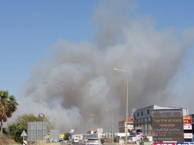 בית שאן: 4 מטוסי כיבוי הוזנקו לכיבוי שריפה