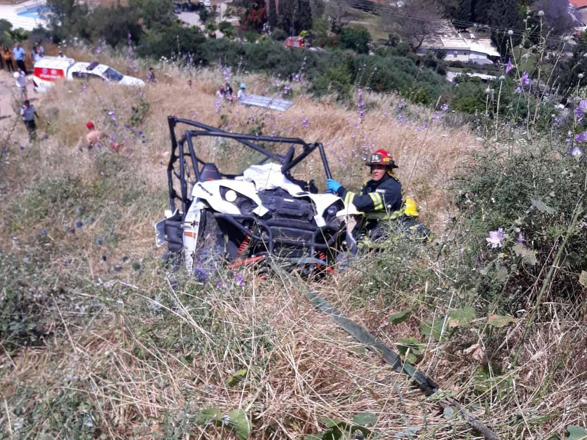 חילוץ רכב השטח בזירת התאונה