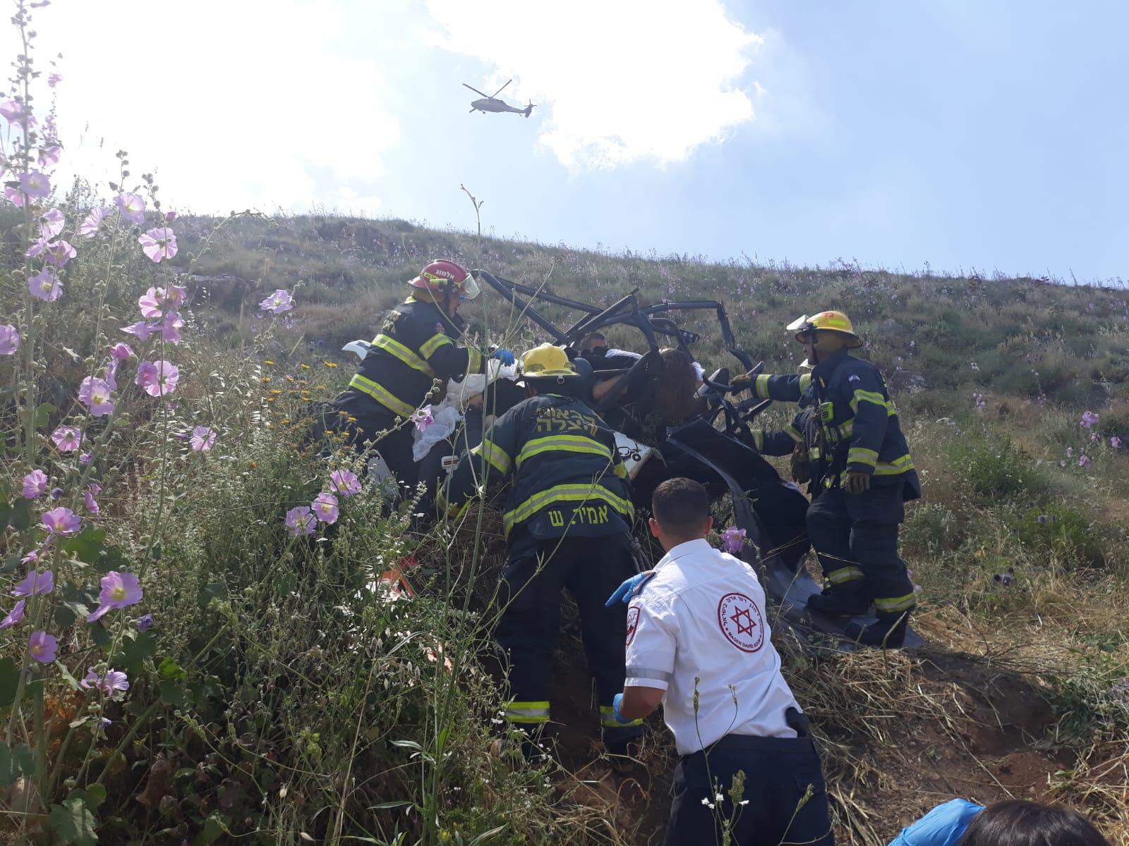 """לוחמי כב""""א בפעולות חילוץ הנפגעות"""