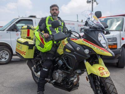 אופנוע כבד מצטרף למגן דוד אדום במגדל העמק