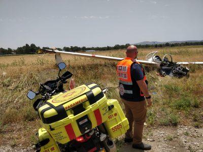 הרוג בהתרסקות כלי טיס בסמוך למנחת מגידו